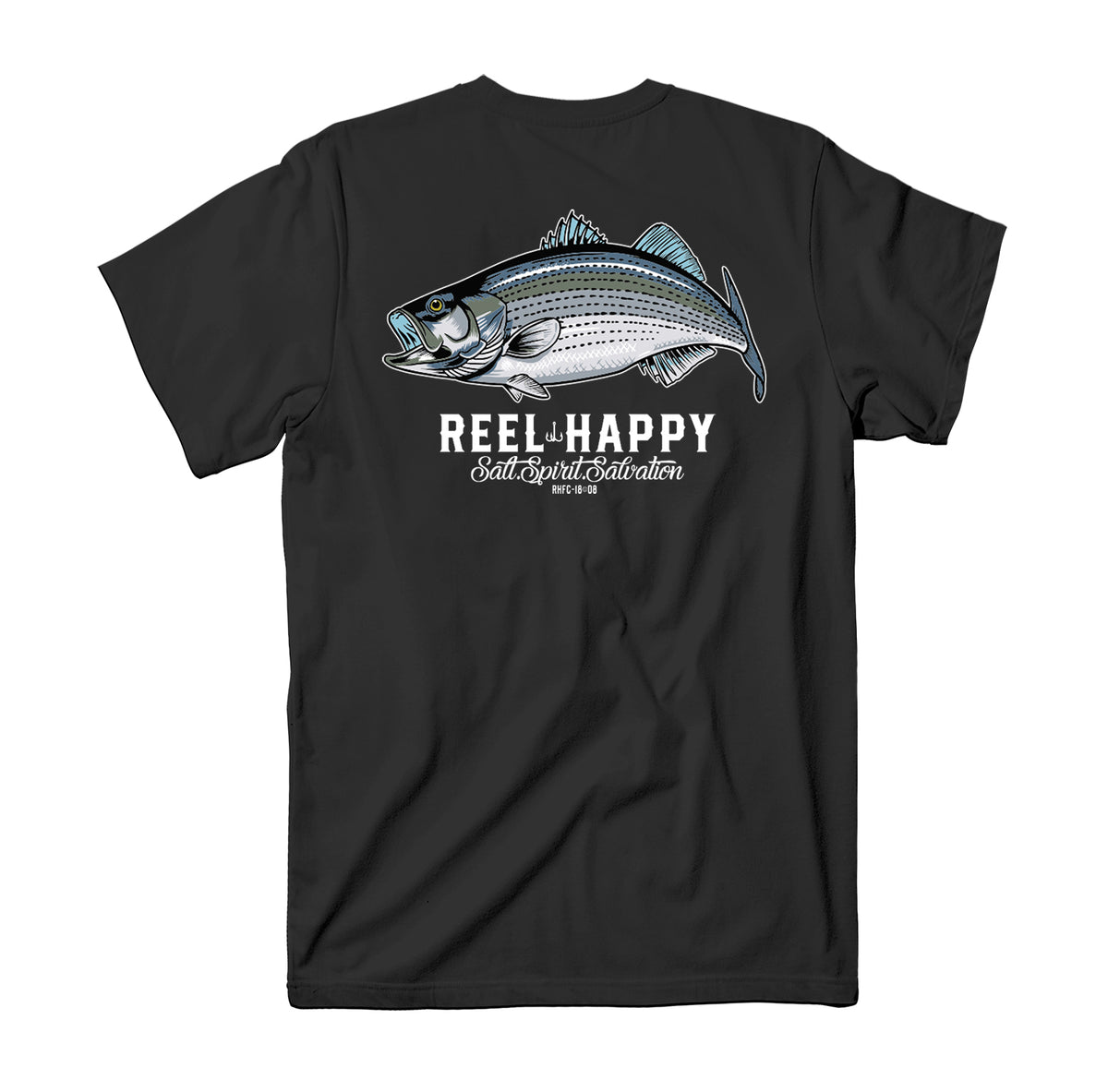 Striper Pocket T-Shirt - Black - Reel Happy Co