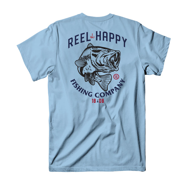 Club Tee - Light Blue - Reel Happy Co