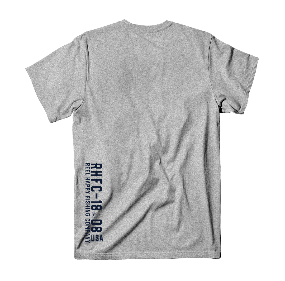 Riverrun T-Shirt - Heather Grey - Reel Happy Co