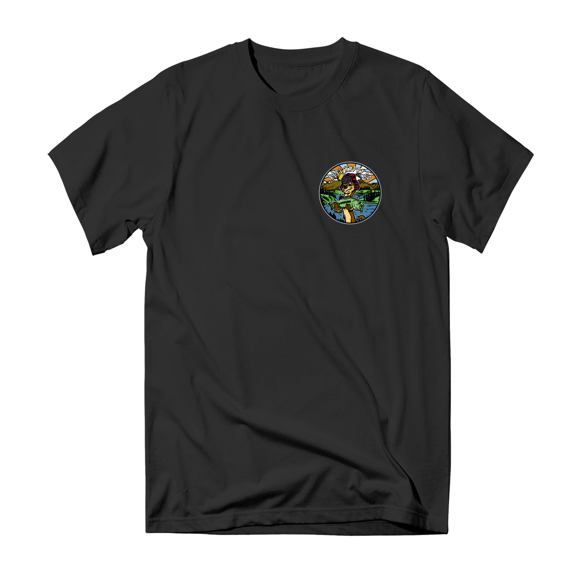 Lazy River T-Shirt - Black - Reel Happy Co