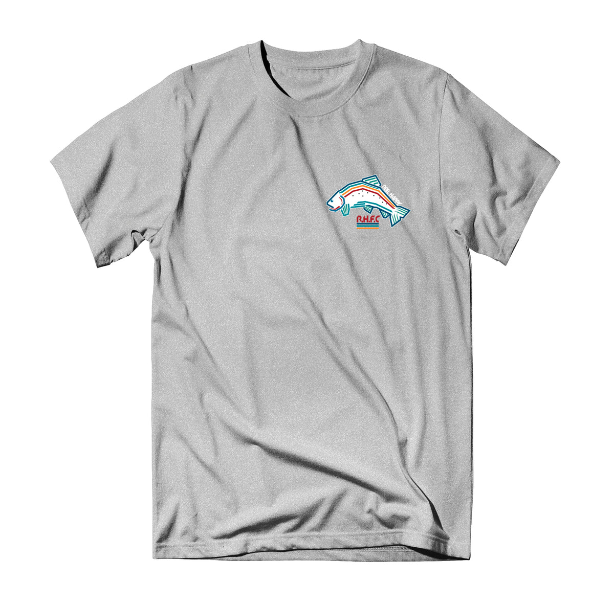 Trout Lines T-Shirt - Heather Grey - Reel Happy Co