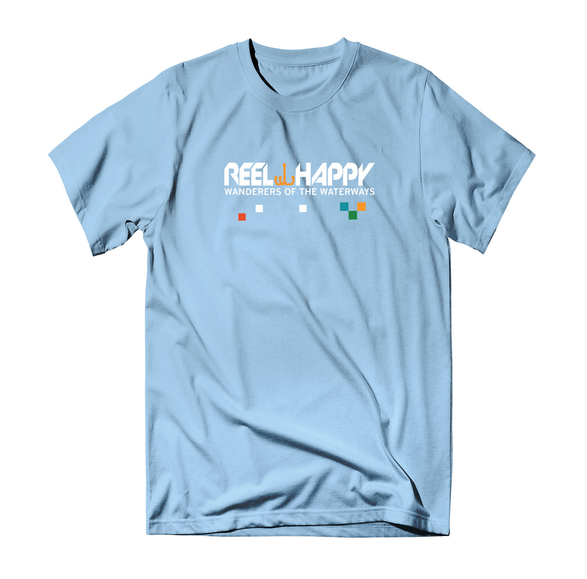 Tech Marge T-Shirt - Light Blue - Reel Happy Co