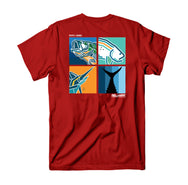 4 Banger T-Shirt - Red - Reel Happy Co