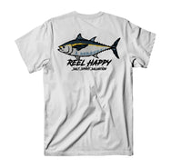 Black Back Tee - White - Reel Happy Co