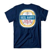 Turnt Label Pocket T-Shirt - Navy - Reel Happy Co