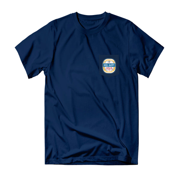 Turnt Label Pocket Tee - Navy