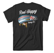 Patriot Trout Tee - Black - Reel Happy Co