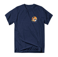 Doug Tee - Navy Heather - Reel Happy Co