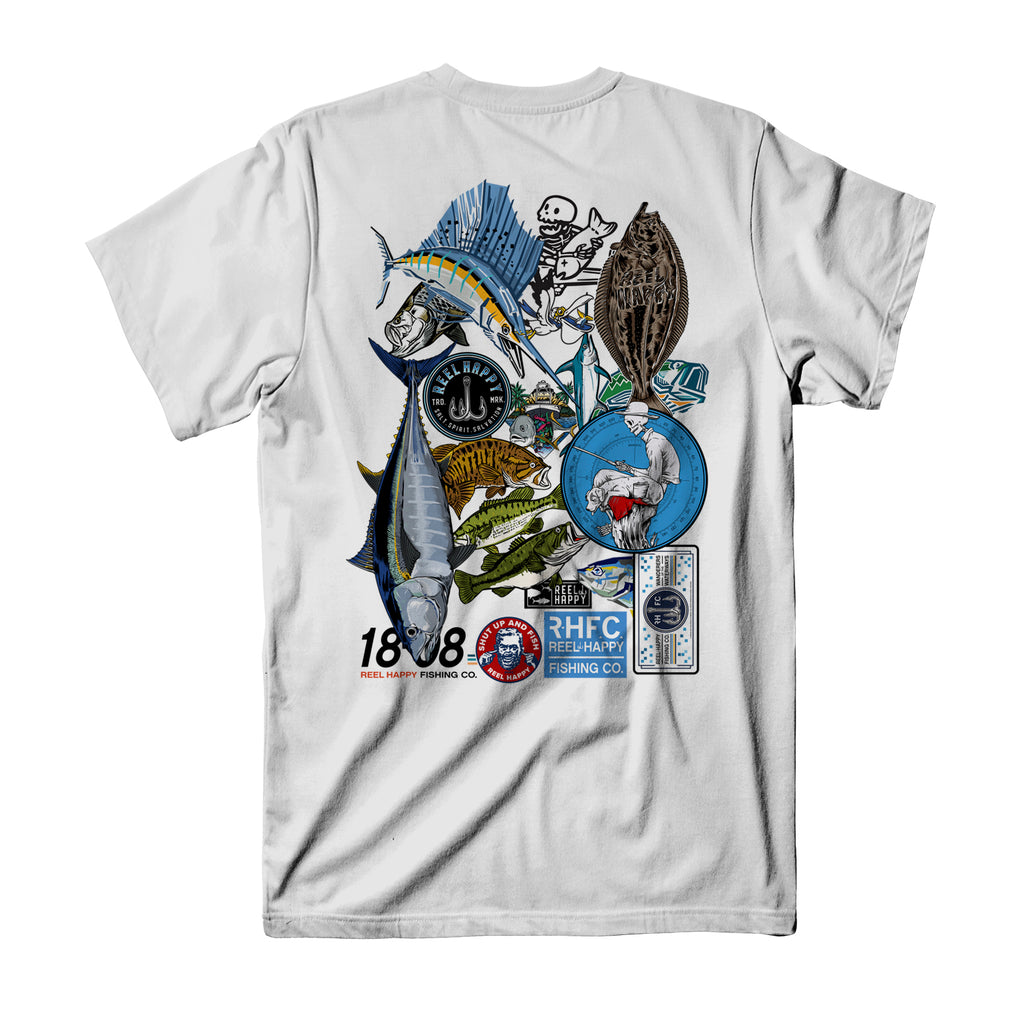 Rise Up Tee - White - Reel Happy Co