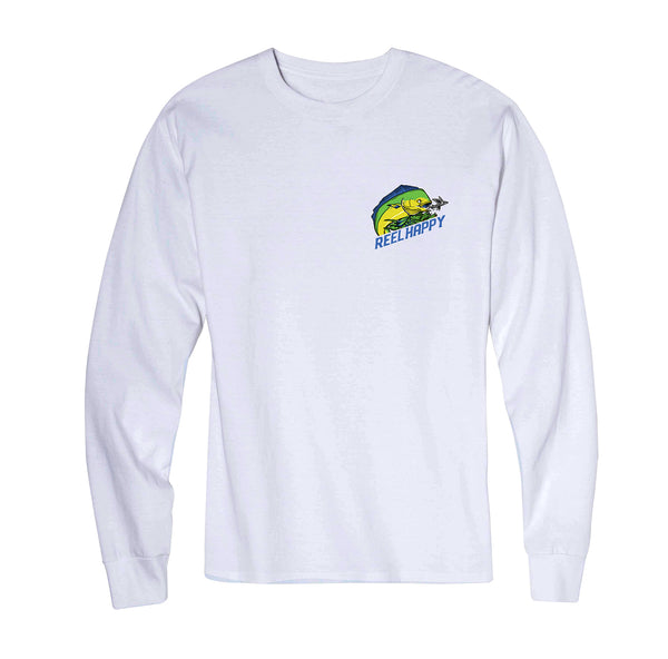 Mahi Mahi LS Tee - White - Reel Happy Co