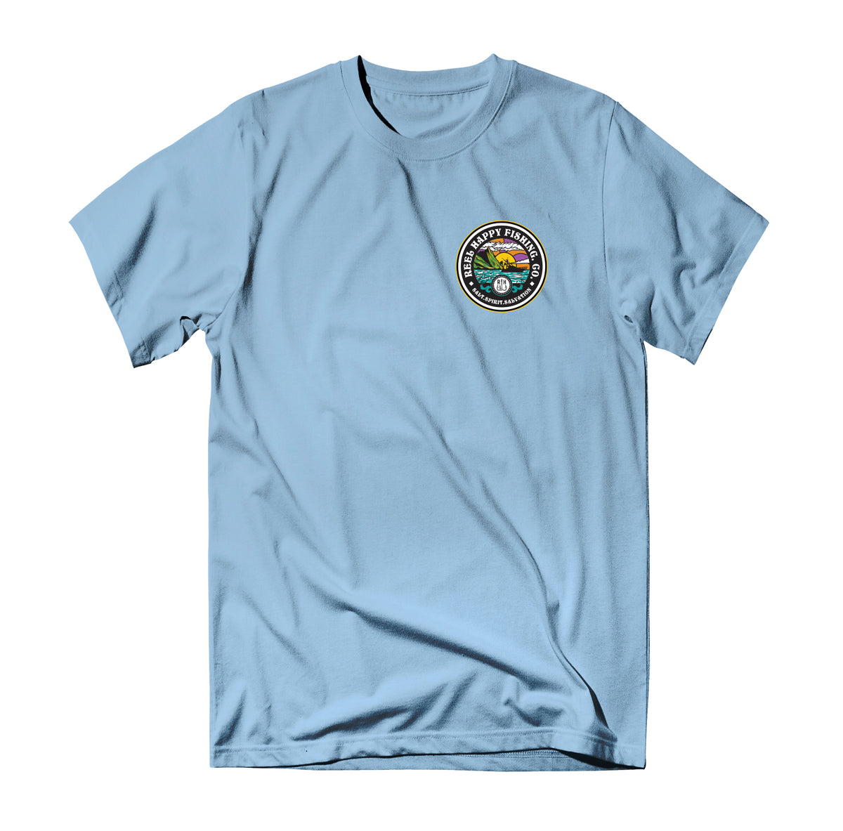 Saltscape Tee - Light Blue - Reel Happy Co