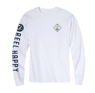 Backlash Bandits Long Sleeve T-Shirt - White - Reel Happy Co
