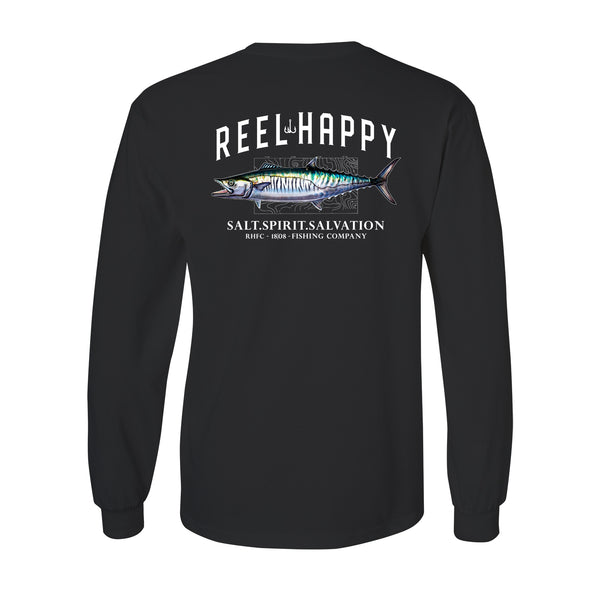 King Mack LS Pocket Tee - Black - Reel Happy Co