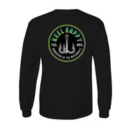 Treble Fade Long Sleeve Tee - Black - Reel Happy Co