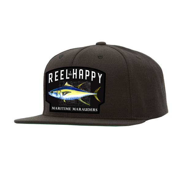 Happy Tuna Snapback - Black - Reel Happy Co