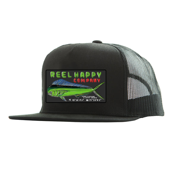 Dorado Sign Trucker Hat - Black - Reel Happy Co