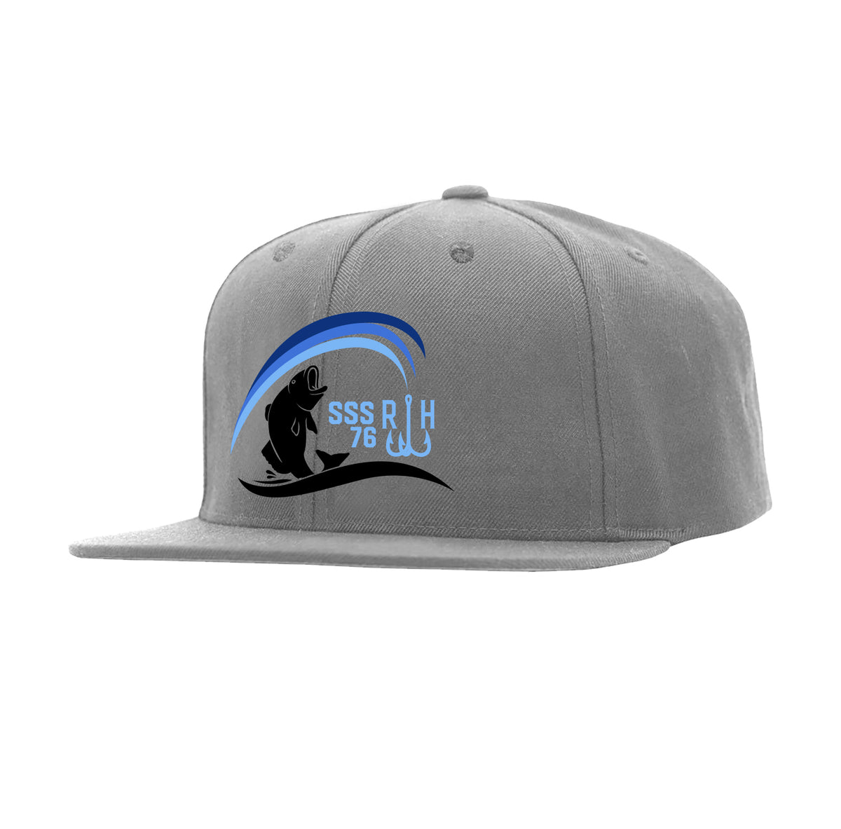 Outta Water Snapback Hat - Grey - Reel Happy Co