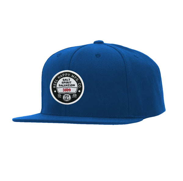 Registration Snapback - Royal - Reel Happy Co