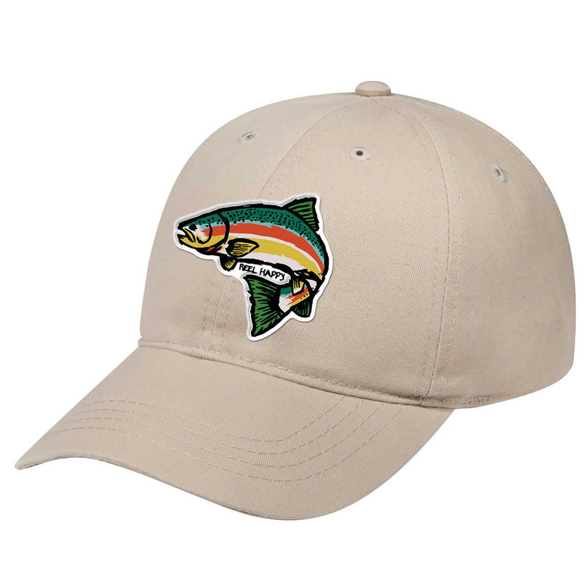 Trout Blender Dad Hat - Khaki - Reel Happy Co