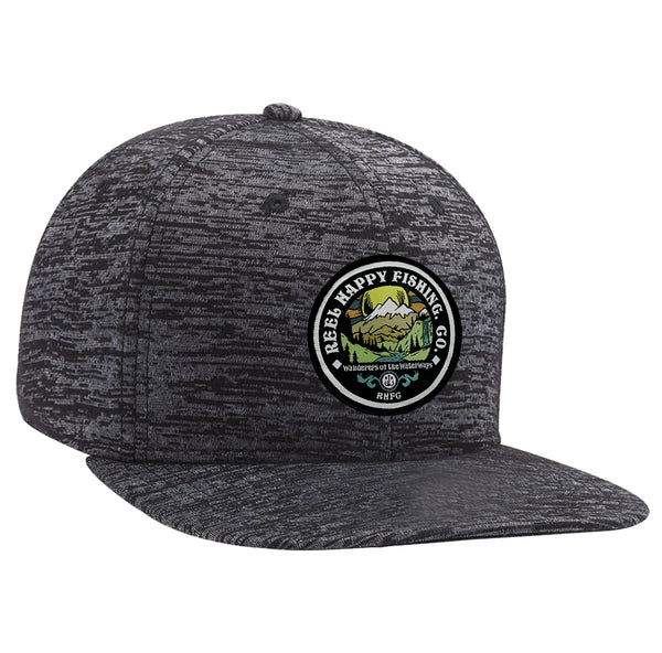Frontier Snapback Hat - Dark Grey - Reel Happy Co