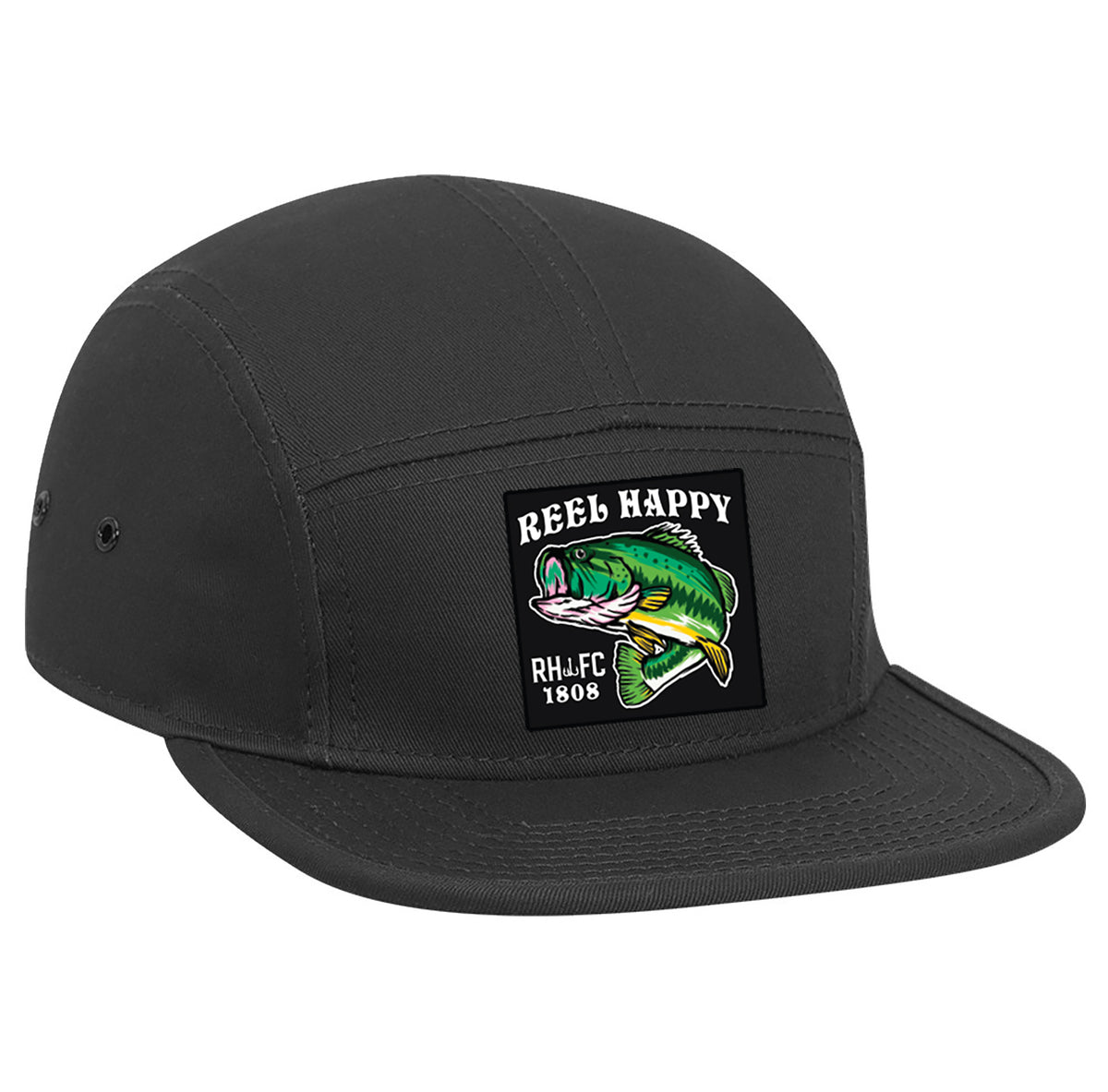 Happy Camper Hat - Black - Reel Happy Co