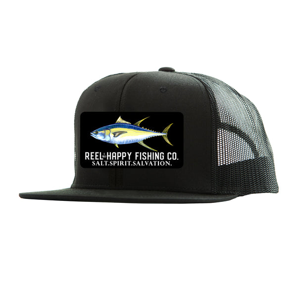 Yella Trucker Hat - Black - Reel Happy Co