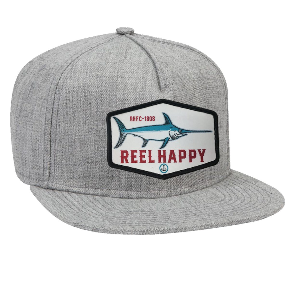 Lucky  Cutter Snapback Hat - Grey - Reel Happy Co