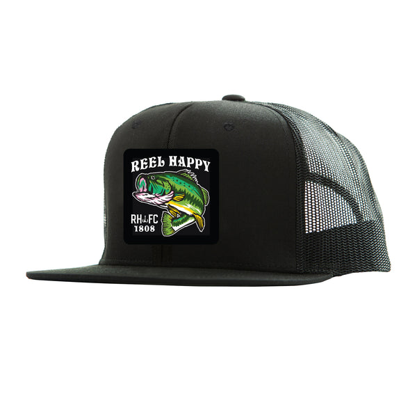 Large Marge Trucker - Black - Reel Happy Co