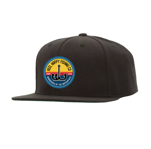 Smoothie Snapback Hat - Black - Reel Happy Co