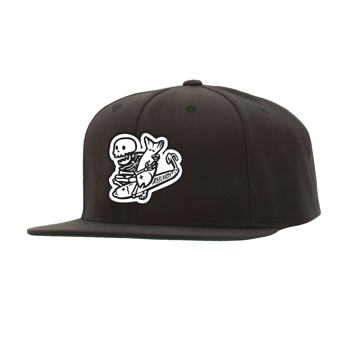 Dropping Bombs Snapback - Black - Reel Happy Co