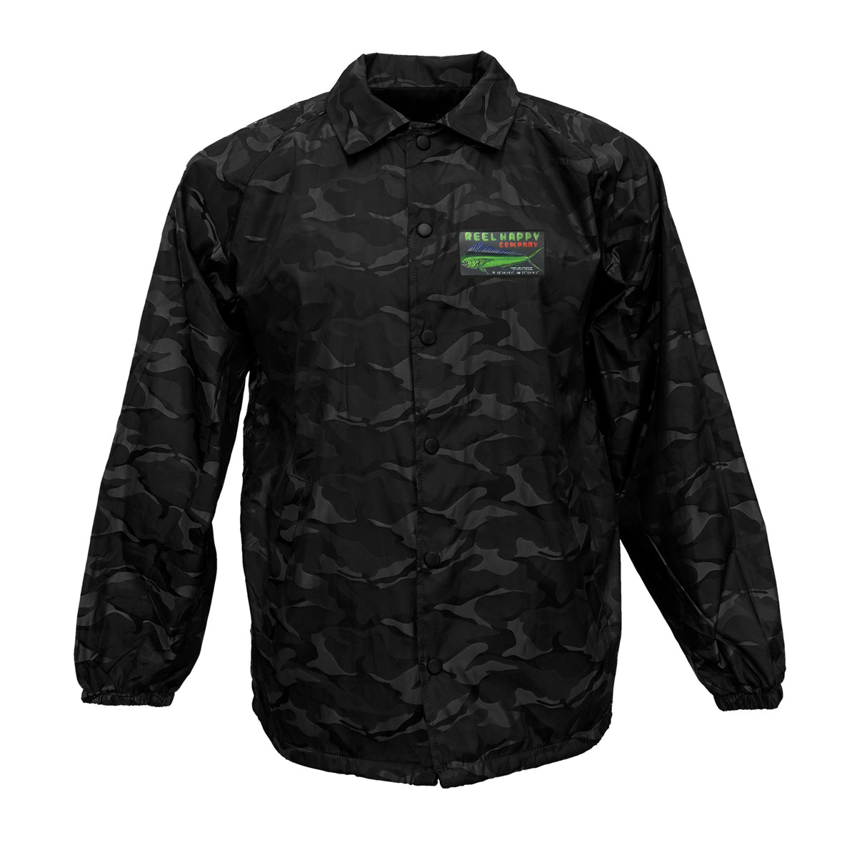 Dorado Sign Windbreaker - Black Camo - Reel Happy Co