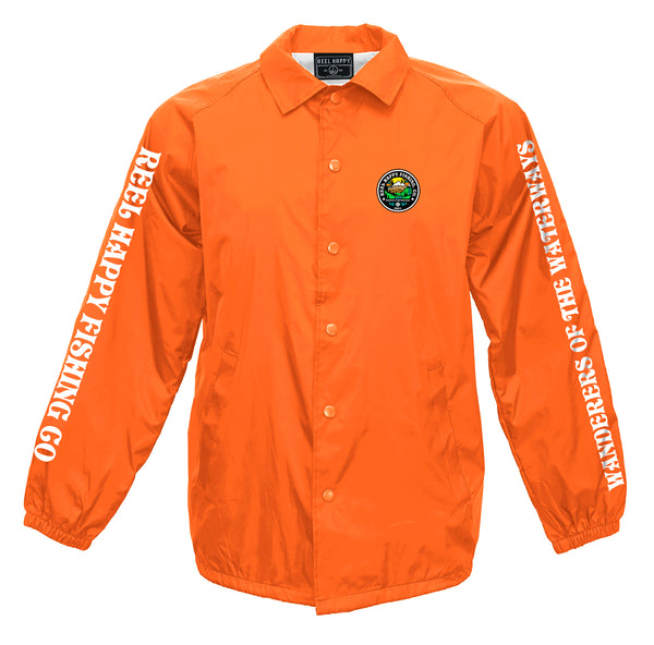 New Frontier Windbreaker Jacket - Orange - Reel Happy Co