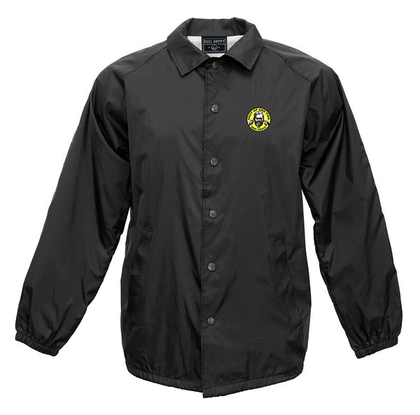 Silence Windbreaker Jacket - Black - Reel Happy Co