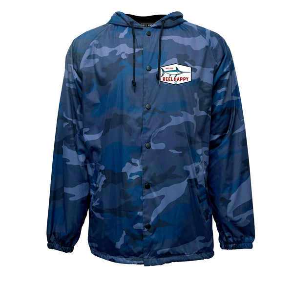 Lucky Cutter Windbreaker Jacket - Navy Camo - Reel Happy Co