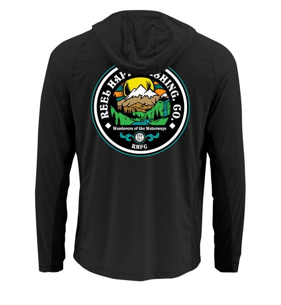 Parks & Rec Hoodie UPF 40+ - Black - Reel Happy Co