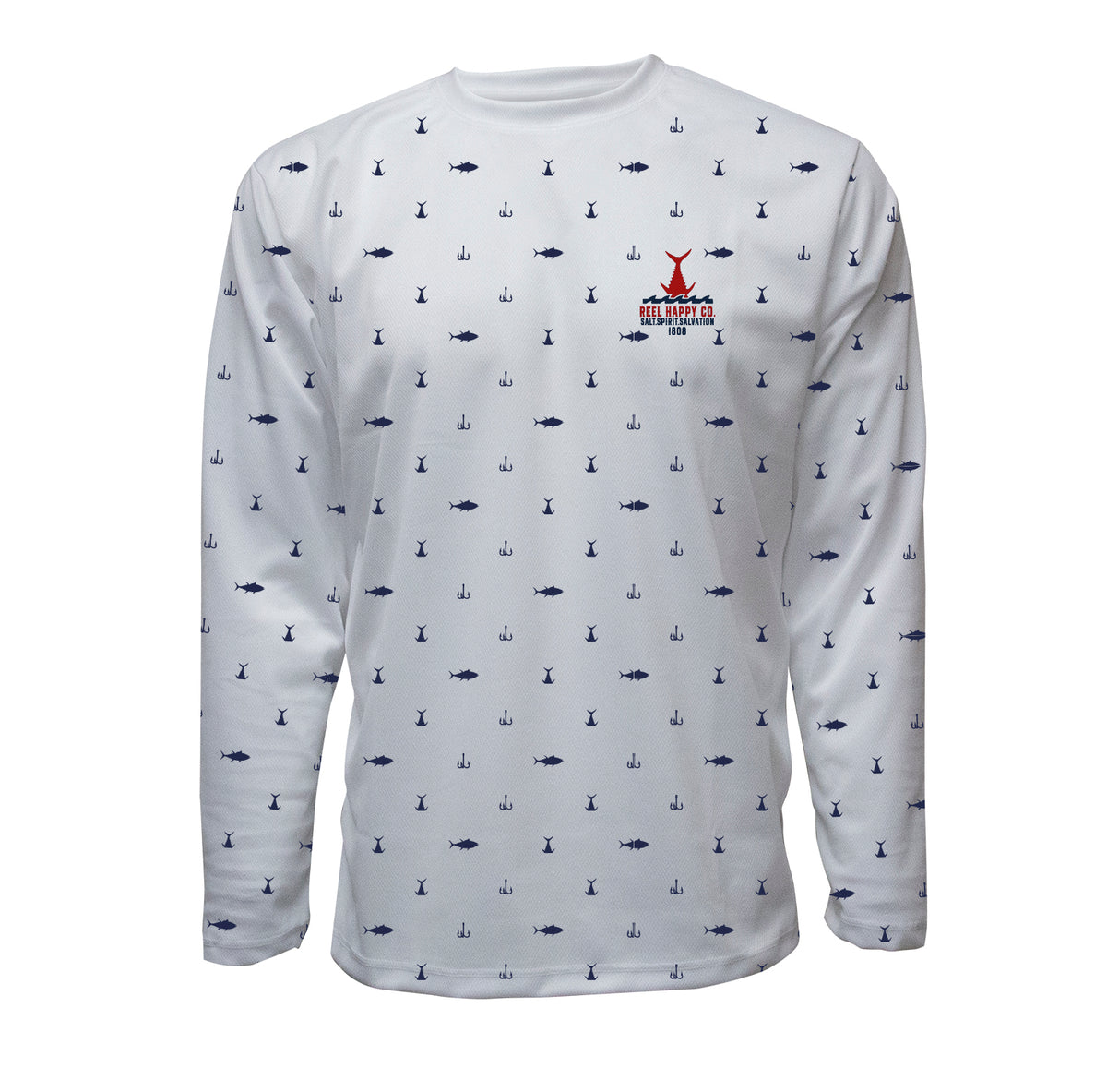 Polka Tuna UPF 40+ Performance Long Sleeve Shirt - Reel Happy Co
