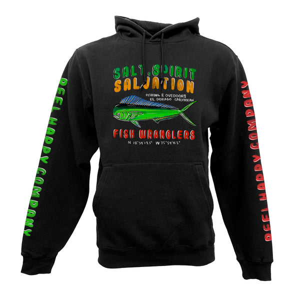 Fish Wranglers Hoodie - Black - Reel Happy Co