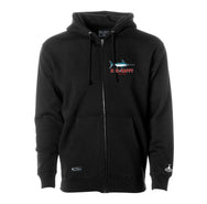 Night Moves Zip Hoodie - Black - Reel Happy Co