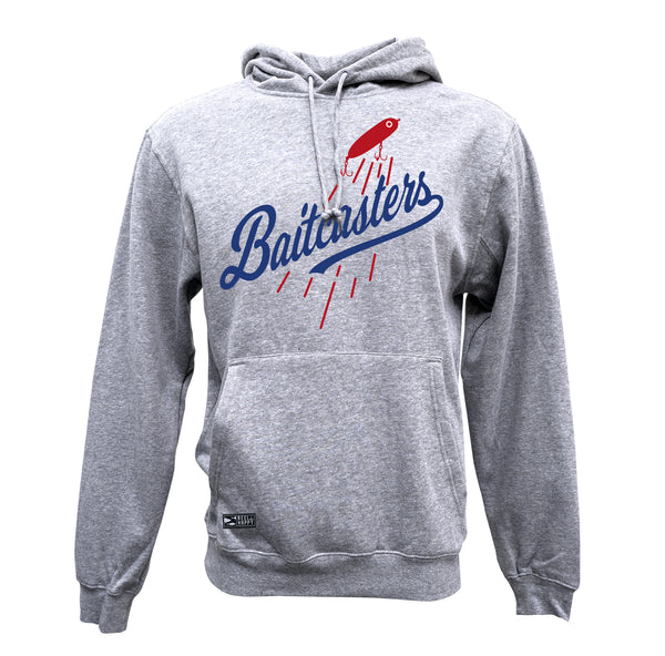 Baitcasters Hoodie Sweatshirt - Heather Grey - Reel Happy Co