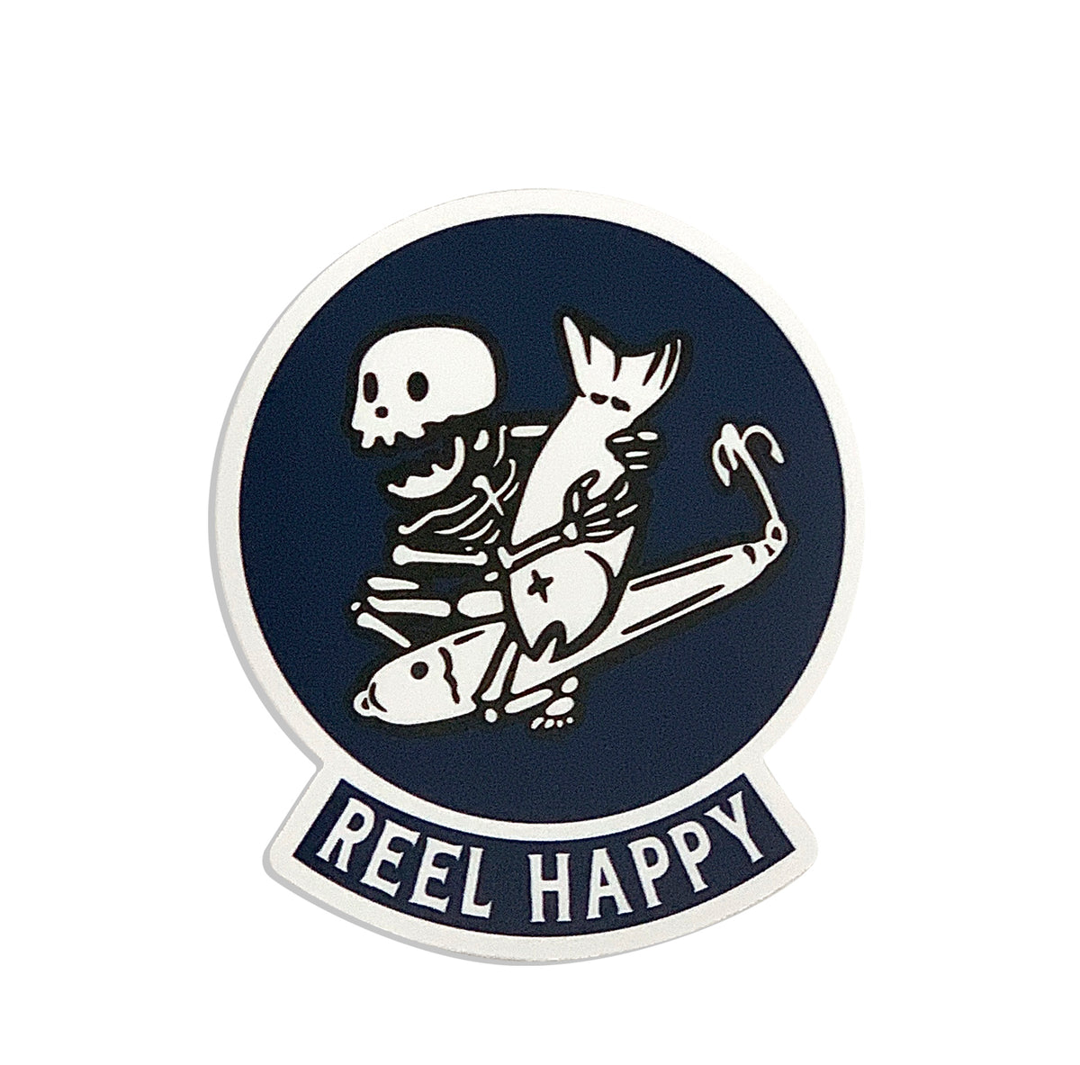 Bombs Away Sticker - Reel Happy Co