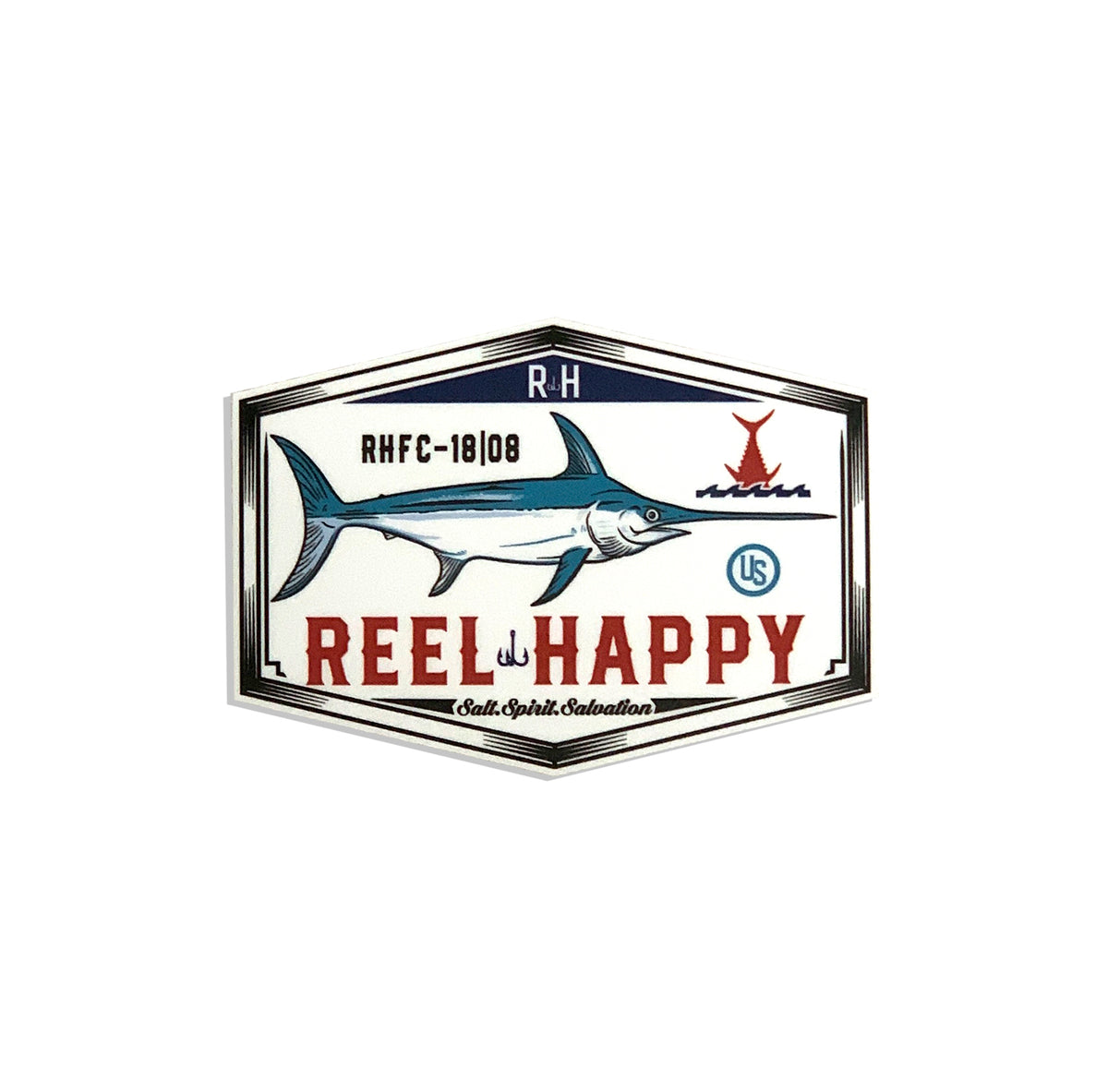 Lucky Cutter Sticker - Reel Happy Co