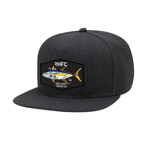 Yellowtech Snapback Hat - Dark Heather - Reel Happy Co