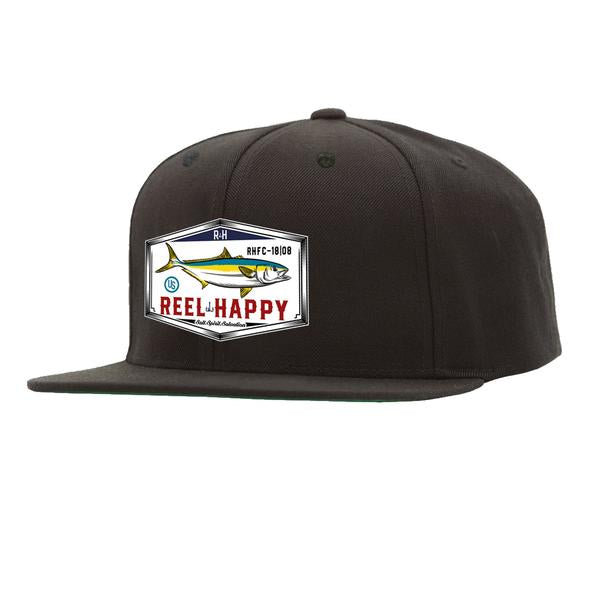 Yellowtail Snapback Hat - Black - Reel Happy Co