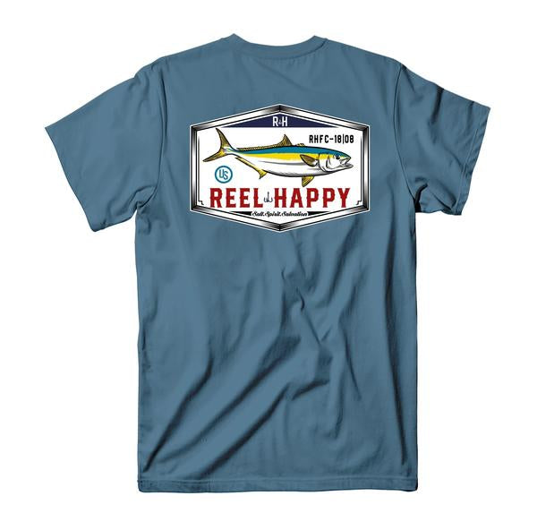 Yellowtail T-Shirt - Slate - Reel Happy Co