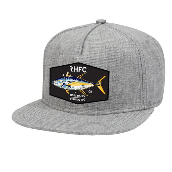 Yellowtech Snapback Hat - Heather Grey - Reel Happy Co