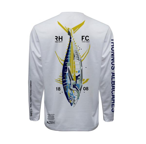 Young Thunna UPF 40+ Performance Long Sleeve - White - Reel Happy Co