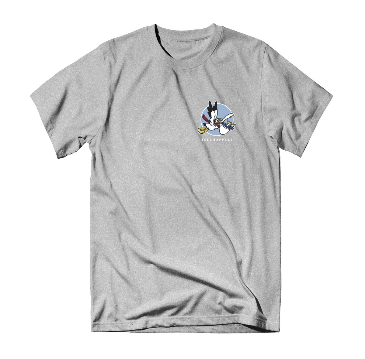 Doug Tee - Heather Grey - Reel Happy Co