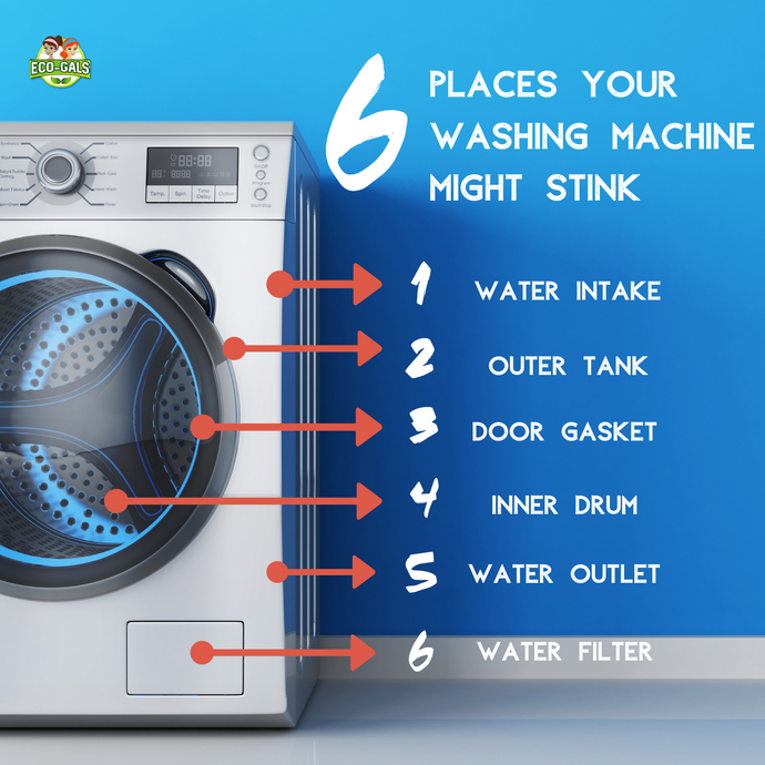 6 Places Your Washing Machine Might Stink