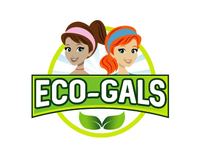 eco-gals logo with two girls and a green leaf