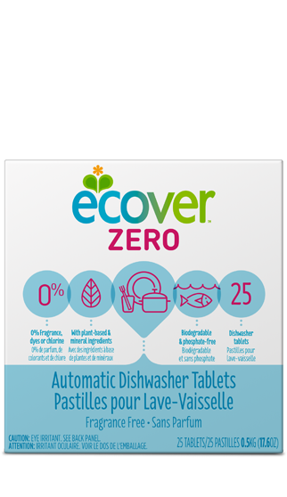 ECOVER: Automatic Dishwasher Tablets Zero, 17.6 oz